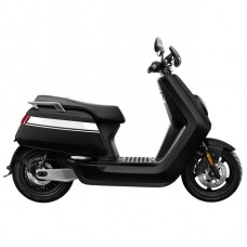 NIU NQi GTs Pro Electric Scooter - Black With White Stripes