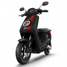 NIU MQi+ Sport Electric Scooter - Black With Red Stripes