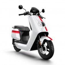 NIU NQi GTs Pro Electric Scooter - White With Red Stripes