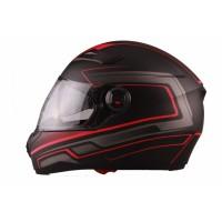 VITO Helmet FALCONE FULL FACE + Sun visor matte - Black / Red, L