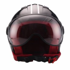 VITO Helmet JET MODA SHINY - Black, L