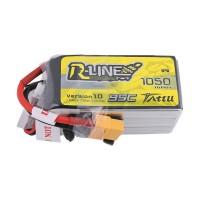 Tattu R-Line 1050mAh 95C 22.2V 6S1P Lipo Battery Pack with XT60 Plug