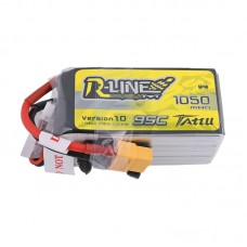 Tattu R-Line 1050mAh 95C 22.2V 6S1P Lipo Battery Pack with XT60 Plug