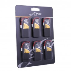 Tattu 350mAh 3.7V 30C 1S1P Lipo Battery Pack with Molex Plug(6 pcs/pack)