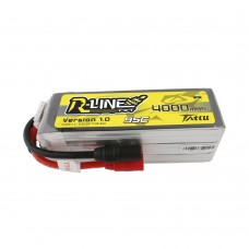 Tattu R-Line 22.2V 4000mah 6S 95C FPV Lipo Battery with AS150 Plug