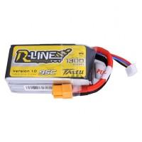 Tattu R-Line 4S 1300mah 95c Lipo Battery Pack with XT60 Plug