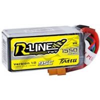 Tattu R-Line 1550mAh 95C 4S1P Lipo Battery Pack with XT60 Plug for FPV Racing Drone